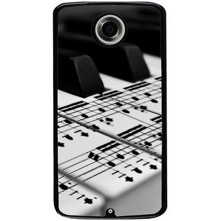 Ayaashii Musical Keyboard Back Case Cover for Motorola Google Nexus 6