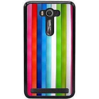 Ayaashii Color Stripes Back Case Cover for Asus Zenfone Selfie::Asus Zenfone Selfie ZD551KL