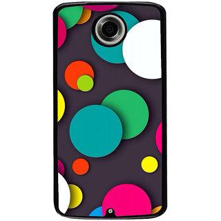 Ayaashii Colorful Circle Pattern Back Case Cover for Motorola Google Nexus 6