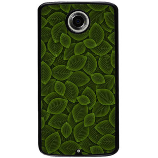 Ayaashii Leaf Pattern Back Case Cover for Motorola Google Nexus 6