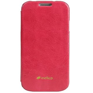 Melkco - Leather Case for Samsung Galaxy S4 - Epoca Series Face Cover Book Type - (Pink Wax Leather) - SSGY95LCFB2PKWX