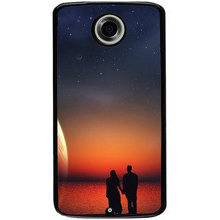 Ayaashii Romantic Couple Back Case Cover for Motorola Google Nexus 6