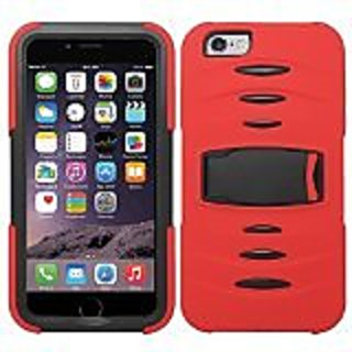 Zizo Rugged Case with Screen and Kickstand for iPhone 6 Plus - Retail Packaging - Red/Black