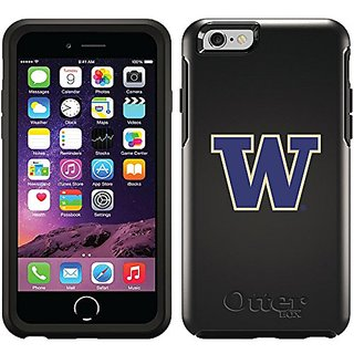 Coveroo Cell Phone Case for iPhone 6 - Retail Packaging - Black/University of Washington W Design