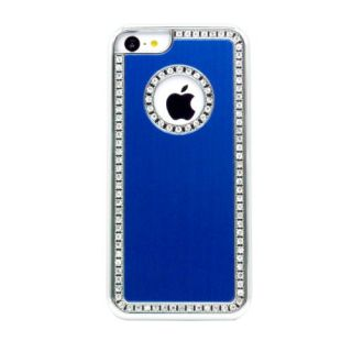 Gearonic Luxury Bling Glitter Chrome Crystal Rhinestones Hard Back Case for iPhone 5C - Non-Retail Packaging -...