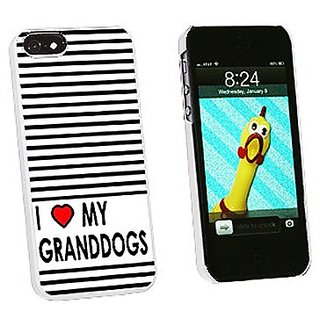 Graphics and More I Love Heart My Granddogs Snap-On Hard Protective Case for iPhone 5/5s - Non-Retail Packaging - White