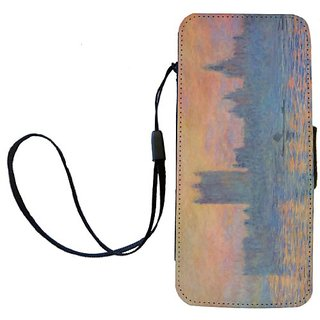 Rikki Knight Claude Monet Art London Parliament in the Winter Flip Wallet iPhoneCase with Magnetic Flap for iPhone 5/5s