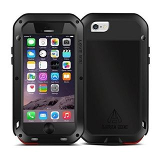 Love Mei Shockproof Water Resistant Dust/Dirt/Snow Proof Aluminum Metal Gorilla Glass Heavy Duty Protection Case Cover f