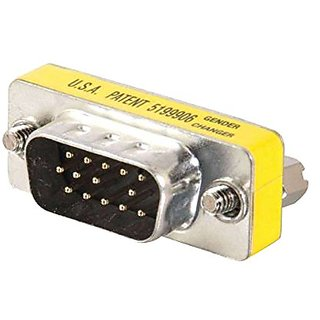C2G / Cables To Go 20686 HD15 VGA M/M Mini Gender Changer (Coupler)