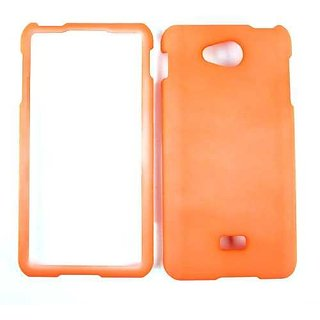 Cell Armor Snap-On Case for LG Spirit 4G - Retail Packaging - Fluorescent Pearl Orange