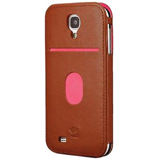 id America Wall St. Case for Galaxy S4 - Retail Packaging - Brown