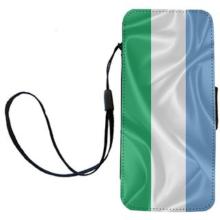 Rikki Knight Sierra Leone Flag Flip Wallet iPhoneCase with Magnetic Flap for iPhone 5/5s - Sierra Leone Flag