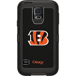 OtterBox Samsung Galaxy S5 Carrying Case - Retail Packaging - NFL Bengals (Black with Cincinnati Bengals NFL Logo)
