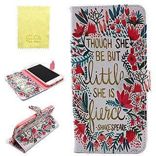 iPhone 6 Case with Shakespeares Word, CQSTORE(TM) for iPhone 6 6s Wallet Case, PU Leather Wallet Flip Protective Skin Ca