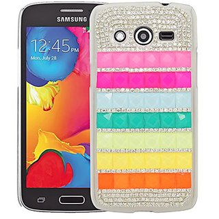 Eagle Cell 3D Diamond Back Cover Case for SAMSUNG Galaxy Avant/G386T - Retail Packaging - White/Pink/Orange/Blue