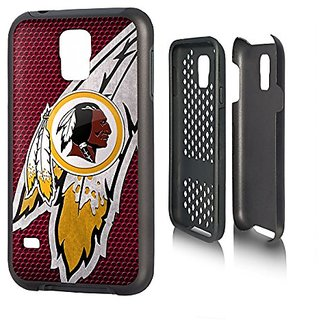 Washington Redskins Rugged Case for Samsung Galaxy S 5 Cell Phones - Black/Red/Yellow/White