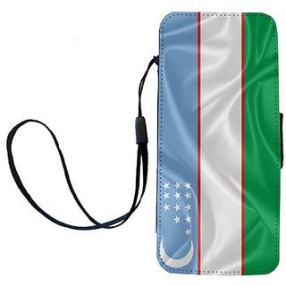 Rikki Knight Uzbekistan Flag Flip Wallet iPhoneCase with Magnetic Flap for iPhone 5/5s - Uzbekistan Flag