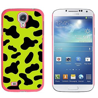 Graphics and More Cow Print Green Snap-On Hard Protective Case for Samsung Galaxy S4 - Non-Retail Packaging - Pink