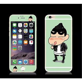 Y&M(TM) iPhone 6 4.7/5.5 Tempered Glass,Bling Colorful Plating Cartoon Full Screen Tempered Glass Front+Back Scre