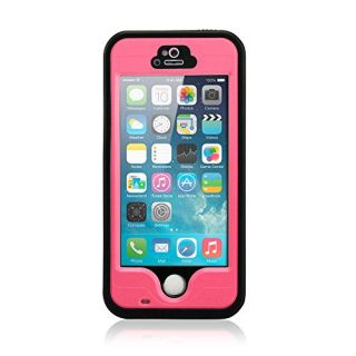 Gearonic Durable Waterproof Shockproof Snow Dirt Proof Fingerprint Scanner Full Case Cover for Apple iPhone 5 5S - Non-R