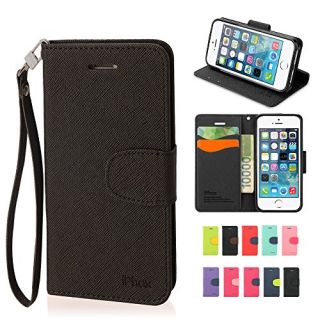 IPHOX High Quality Cell Phone Protective Case Cross Pattern Iphone5 Carrying Cases Iphone5s Wallet Case with Card Slot (