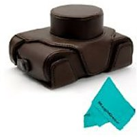 MegaGear Ever Ready Protective Dark Brown Leather Camera Case, Bag For Fujifilm X100S 16 MP Digital Camera
