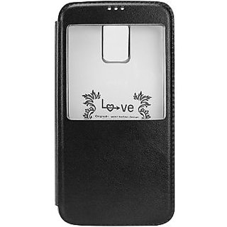 Cellet Window Folio Cover with Clear Flexi Case for Samsung Galaxy S5 - Black