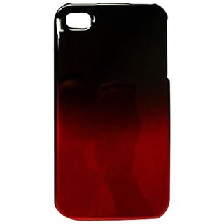 Cell Armor Snap-On Case for iPhone 4/4S - Retail Packaging - Two Tones, Black and Red
