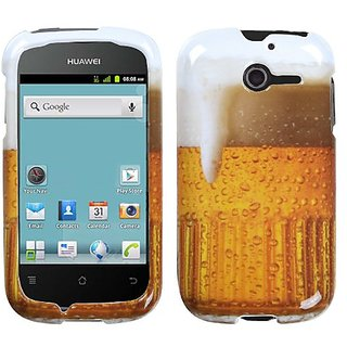 MYBAT HWM866HPCIM909NP Slim and Stylish Snap-On Protective Case for Huawei Mercury M886 - Retail Packaging - Beer Food F