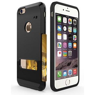 iPhone 6s Plus Case, Apoptech Heavy Duty Protective Slim Shell iPhone 6s Plus Wallet Case Card Slot Dual Layer Tough Bac