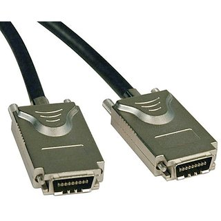 Tripp Lite External SAS Cable, 4 Lane - 4xInfiniband (SFF-8470) to 4xInfiniband (SFF-8470) 2M (6-ft.)(S522-02M)