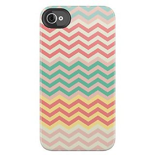 Uncommon LLC Pastel Chevron Deflector Hard Case for iPhone 4/4S - Retail Packaging - Multicolored