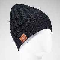 Tenergy Twisted Cable Knit Wireless Hands-Free Bluetooth Beanie Hat 52426 - Black