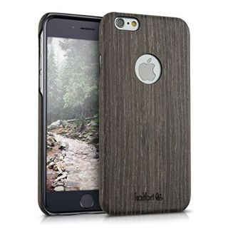 Kalibri wooden case cover for Apple iPhone 6 / 6S - mobile phone cover protective case made of real wood and plastic fro