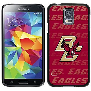 Coveroo Thinshield Case for Samsung Galaxy S5 - Retail Packaging - Black/Boston College Repeating Design