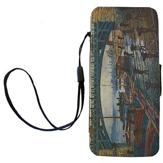 Rikki Knight Claude Monet Art The Coal Carrier Flip Wallet iPhoneCase with Magnetic Flap for iPhone 5/5s - The Coal Carr