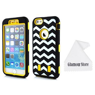 iPhone 6 Plus Case,Wave Patterns Heavy Duty Defender Dirt Shockproof Armor Case Cover For Apple iPhone 6 Plus 5.5 inch W