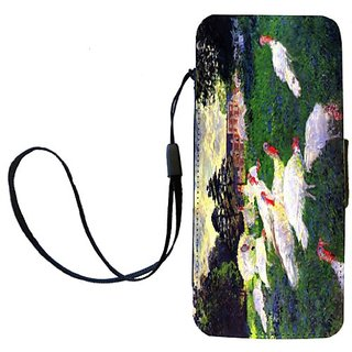 Rikki Knight Claude Monet Art The Gobbler Flip Wallet iPhoneCase with Magnetic Flap for iPhone 5/5s - The Gobbler