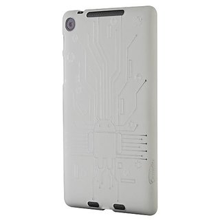 Nexus 7 FHD (2013) Case, Cruzerlite Bugdroid Circuit TPU Case Compatible for New Nexus 7 FHD (2013) - Clear