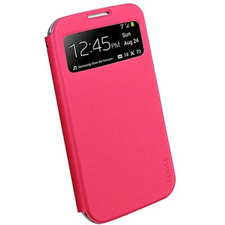 Fenice M006PN00SAMGS4 Piatto View Slim Folding Case for Samsung Galaxy S4 - Retail Packaging - Pink