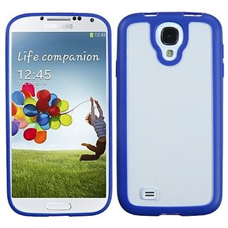 MyBat Transparent Clear/Dark Blue Gummy Cover for Samsung Galaxy S 4 (I337/L720/M919/I545/R970/I9505/I9500) - Retail Pac