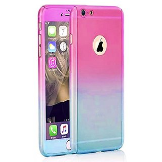 iPhone 6 Case, iLapland Ultra Thin Full Body Coverage Protection Gradient Ramp Colorful PC Hard Slim Case with Tempered