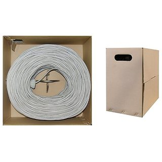 Offex OF-10X6-021TH Bulk Cat5e Gray Ethernet Cable, Solid, UTP (Unshielded Twisted Pair), Pullbox, 1000-Feet