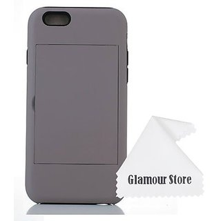 iPhone 6 Plus Case,Gray Smoke ID Credit Card Holder Hard Snap-on Case Back Cover For New Apple iPhone 6 Plus 5.5 inch Wi