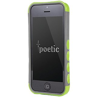 Poetic Borderline Bumper Case for iPhone 5c - Retail Packaging - Green/Gray