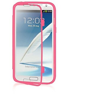 Luxmo Full Phone Protection Wrap-Up Case with Stand Feature for Samsung Galaxy Note 2 - Retail Packaging - Hot Pink