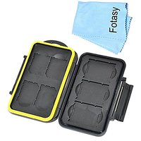 Fotasy Mcsx Rubber Sealed Water Proof Memory Card Case For 4 Sd Sdhc And 3 Xqd Cards With Premier Cleaning Cloth... 1