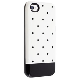 Uncommon LLC C0070-ED Print Dot Capsule Hard Case for iPhone 4/4S - Retail Packaging - Black/White