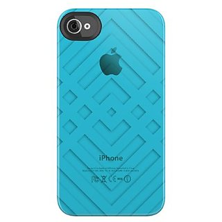 Uncommon LLC C0090-CP Criss Cross Clear Deflector Hard Case for iPhone 4/4S - Retail Packaging - Blue
