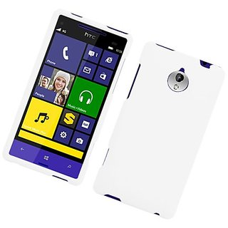 Eagle Cell Rubber Protective Case for HTC 8XT - Retail Packaging - White